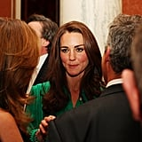 Kate Middleton at a reception in London.
