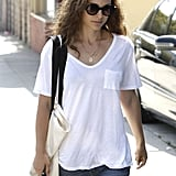 Natalie Portman wore her hair down in LA.
