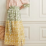 Hannah Artwear Elba Off-The-Shoulder Belted Printed Linen Midi Dress
