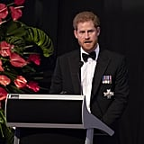 Prince Harry Toasts With Water at State Dinner in Fiji 2018