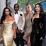 Kim Kardashian, Khloé Kardashian, and Kylie Jenner at Diddy's 50th Birthday Party