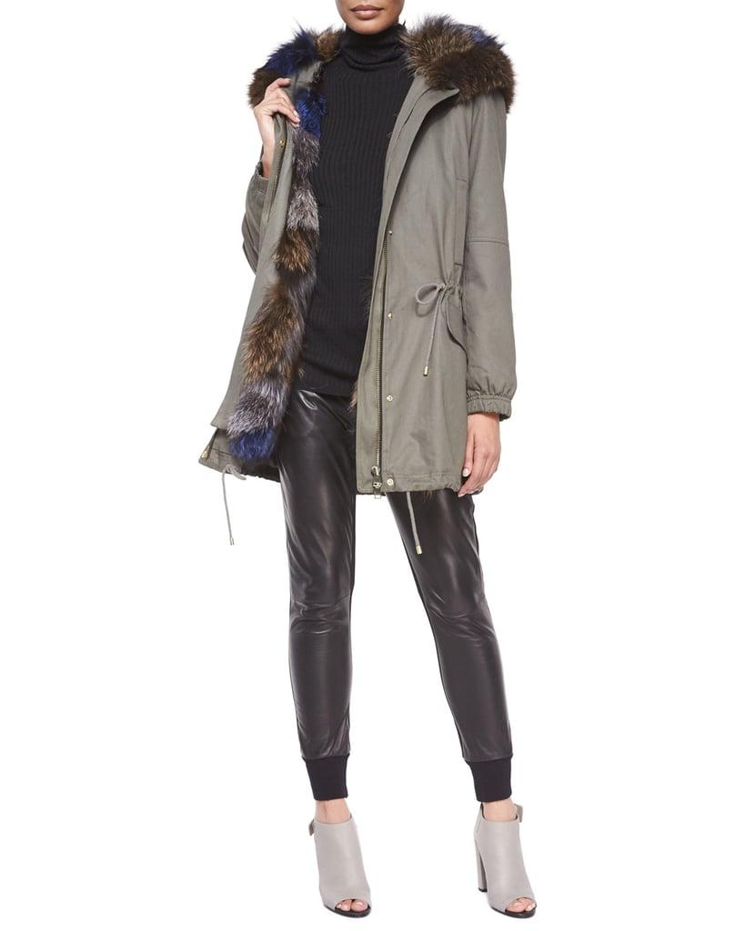 Vince Parka Jacket with Fur-Trim Hood ($1,995)