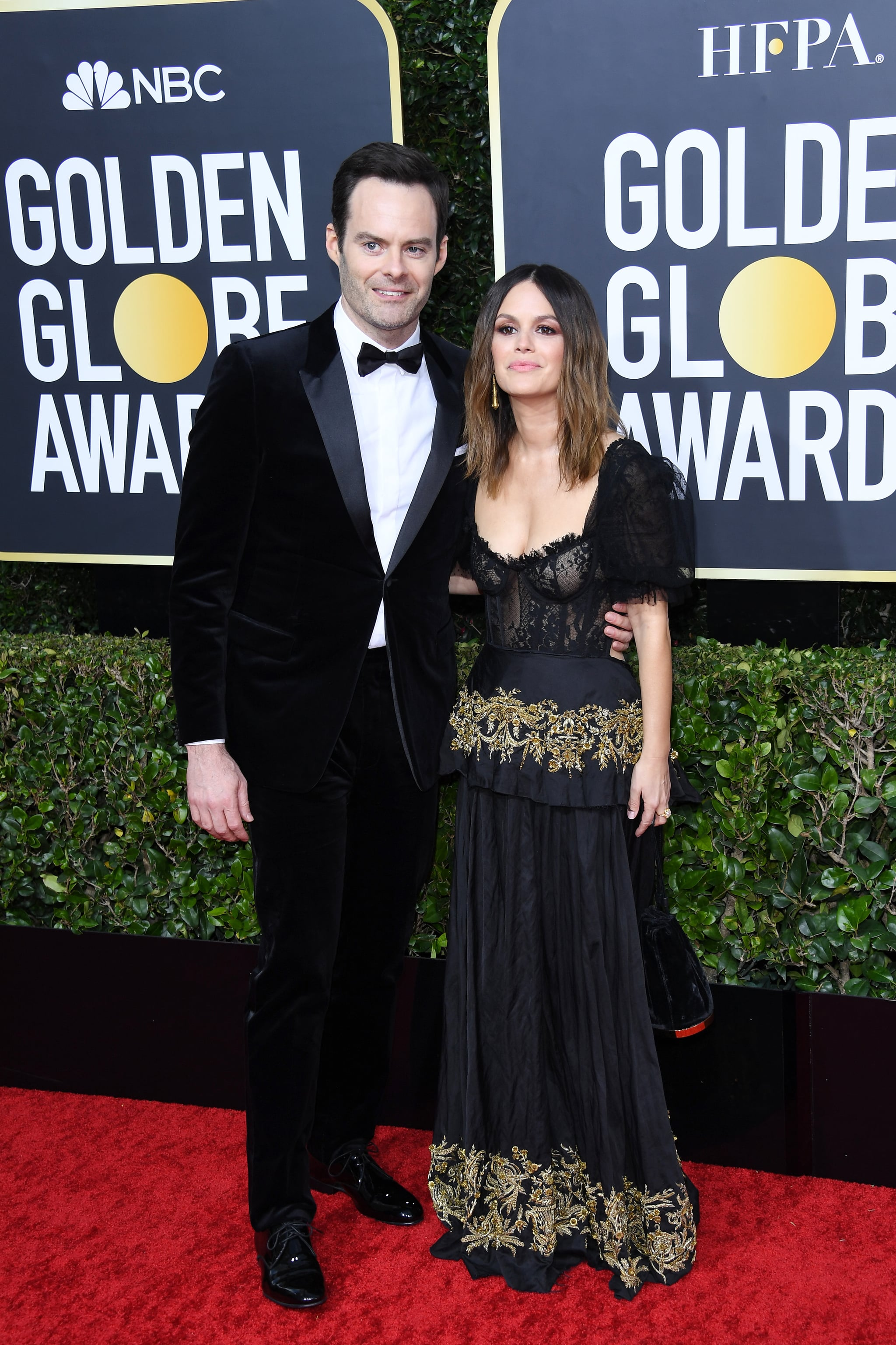 BEVERLY HILLS, CALIFORNIA - JANUARY 05: Bill Hader and Rachel Bilson attend the 77th Annual Golden Globe Awards at The Beverly Hilton Hotel on January 05, 2020 in Beverly Hills, California. (Photo by Daniele Venturelli/WireImage)