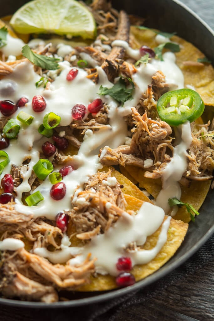 Slow-Cooker Pulled-Pork Nachos
