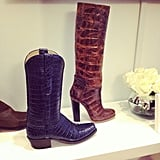 Is it just us, or do these exotic boots from Lucchese have a Texan vibe?
