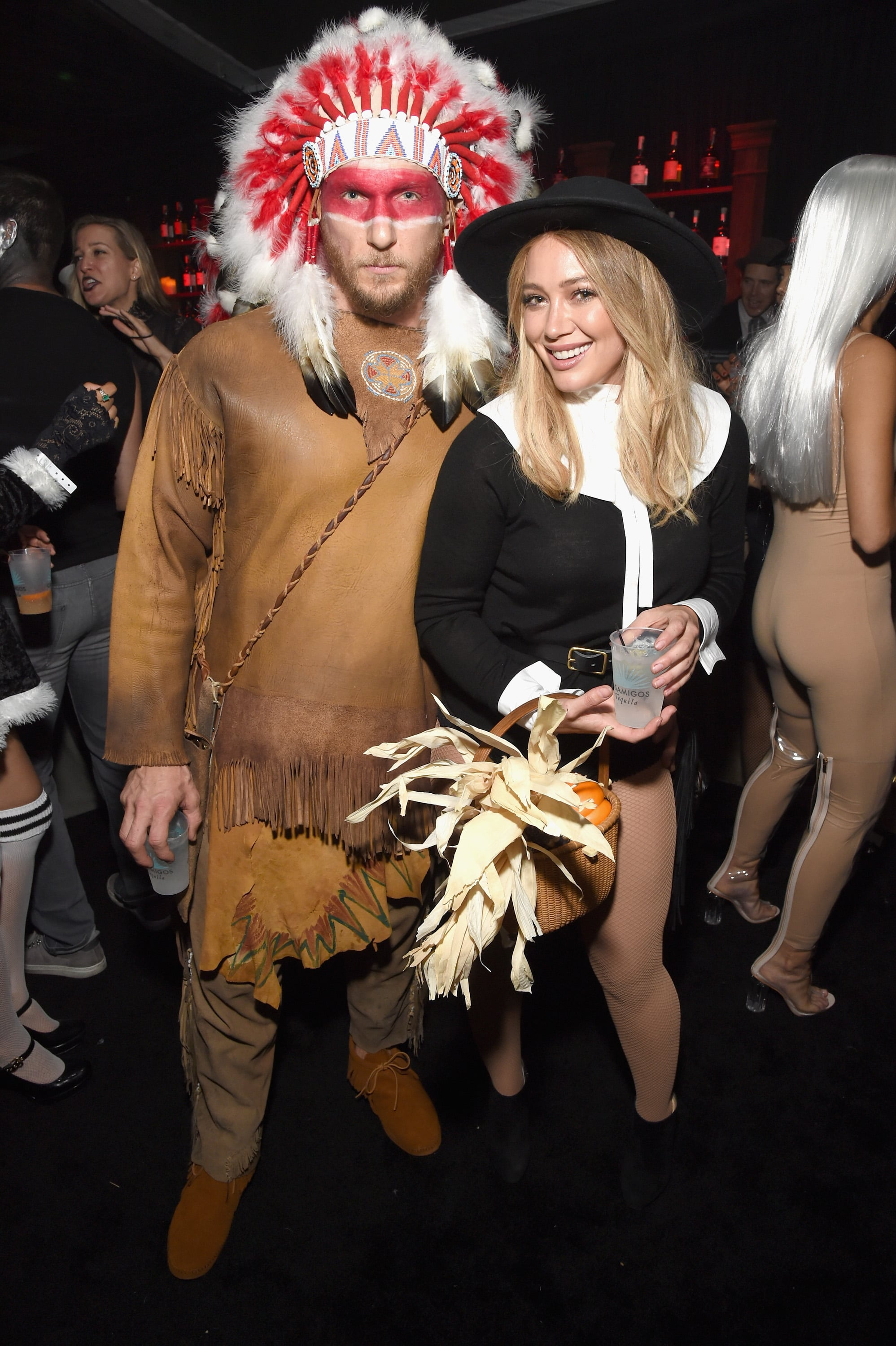 Hilary Duff and her boyfriend fitness trainer Jason Walsh came under fire over the weekend for their Halloween costumes.  sc 1 st  popsugar uk & Hilary Duff and Jason Walsh Apologize For Halloween Costumes ...