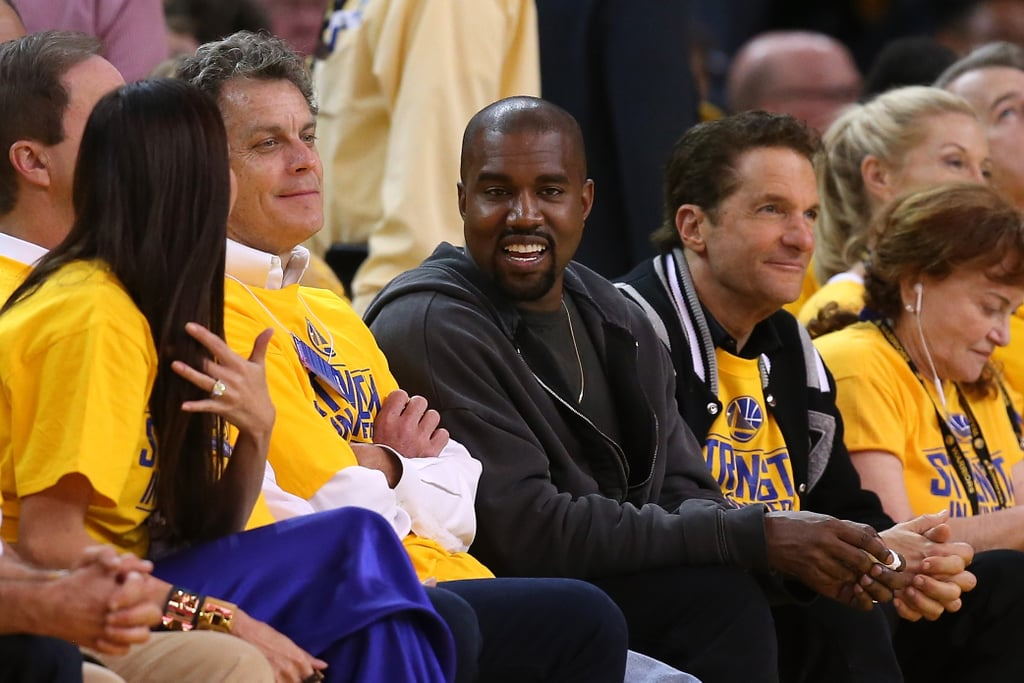 Kanye West Cracks a Smile at the Warriors Game Despite Getting Booed