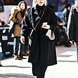 All-black outfits are the no-fail stylish looks no matter where you go. If you want packing to be a breeze and not worry about mixing and matching, just bring all black items.