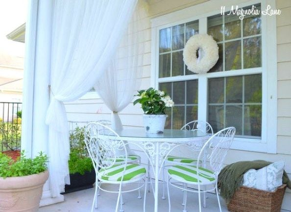Ikea curtains how to add privacy to your backyard for Ikea outdoor curtains