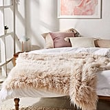 Urban Outfitters Marisa Tipped Faux Fur Throw Blanket