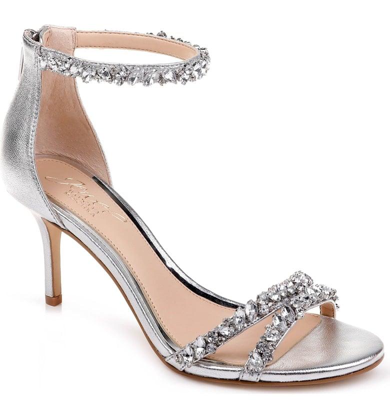 Jewel Badgley Mischka Darlene Embellished Ankle Strap Sandal