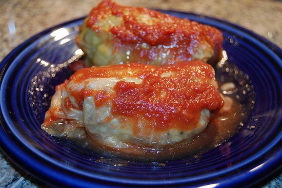 Slow Cooker Recipe for Golumpki Stuffed Cabbage Rolls