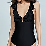Shoshanna Shiny One-Piece