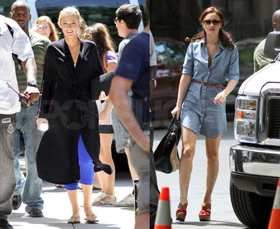 Pictures of Blake Lively and Leighton Meester Filming Gossip Girl in NYC