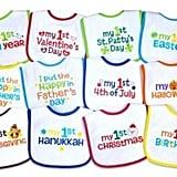 Baby's 1st Year Holiday Bib Set