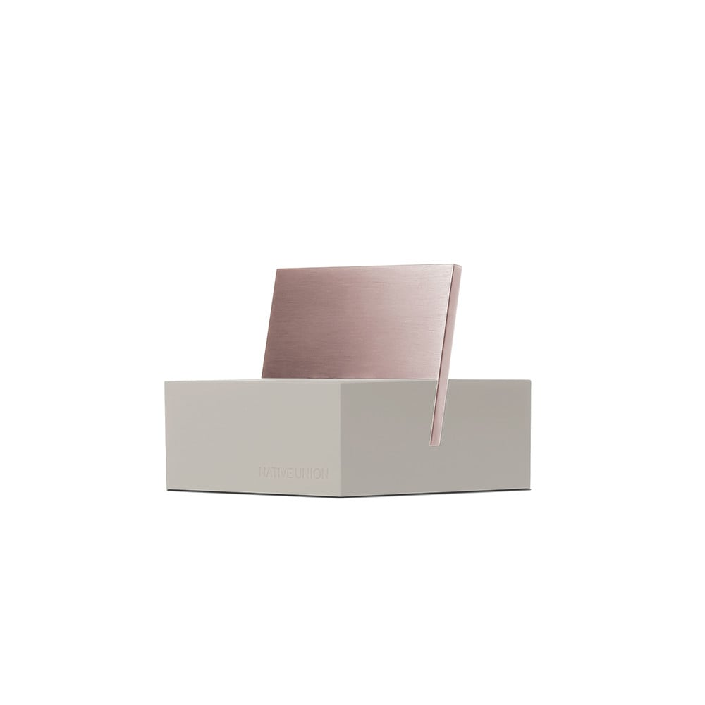 Native Union Stone/Rose Gold iPhone Charging Dock ($50)