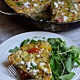 Veggie Stove-Top Frittata With Sweet Corn, Tomatoes, and Courgette