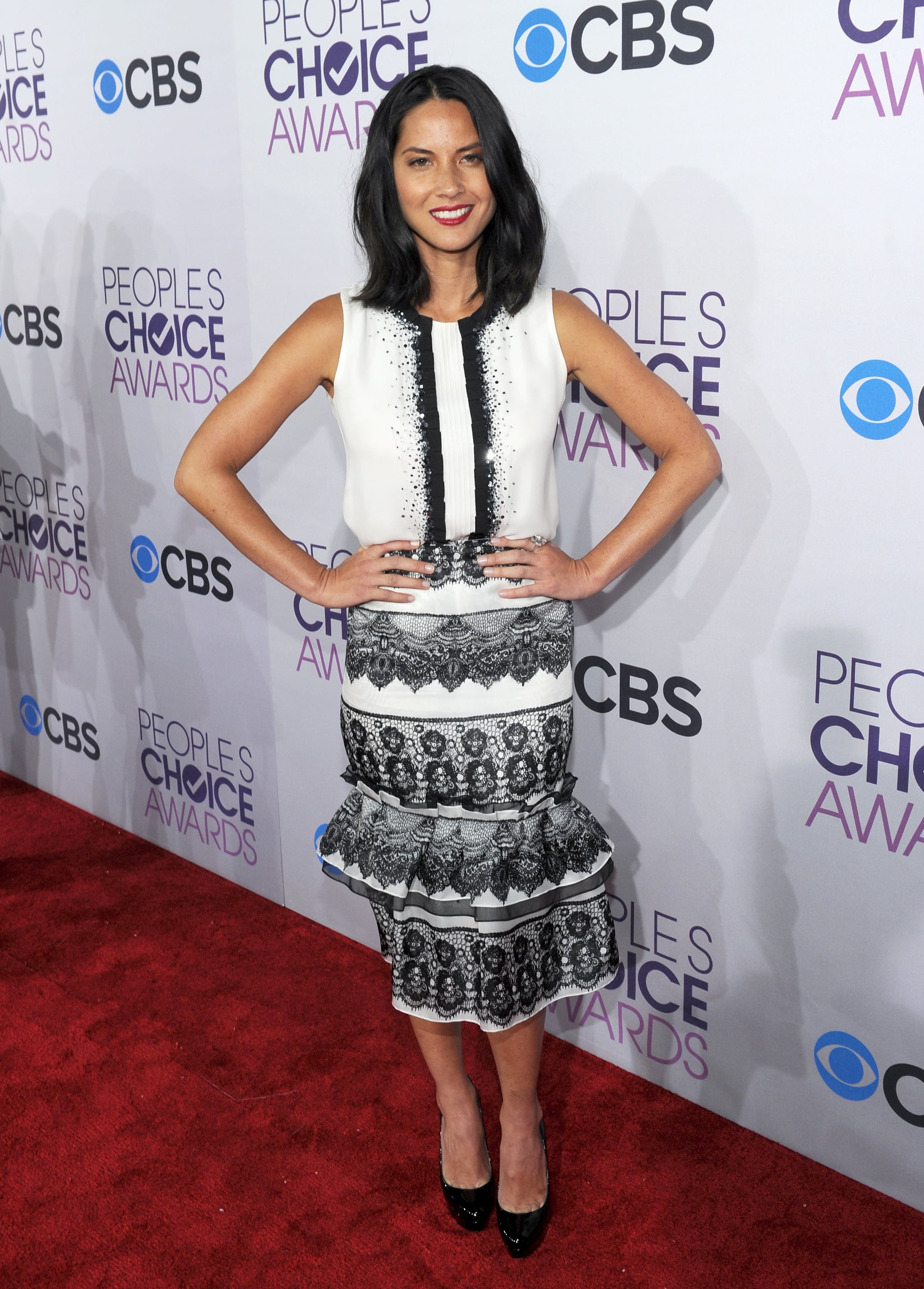 Olivia Munn hit the red carpet at the People's Choice Awards in LA.