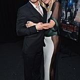 Gwyneth hugged her Iron Man 3 costar, Robert Downey Jr., at the film's LA premiere in April 2013.