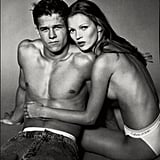 Both Marky Mark and Kate Moss were looking good in their Calvins, but our eyes are glued on him.