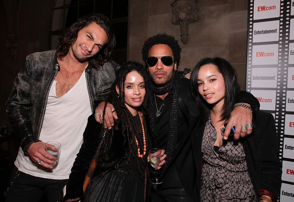 Zoë Kravitz is one of the coolest It girls in Hollywood, and her family is even cooler. Aside from being the only daughter of Lenny Kravitz and Lisa Bonet, the actress also has Aquaman actor Jason Momoa for a stepfather. It's no wonder why she's so fierce — it runs in her blood. When she's not hitting the red carpet with her three famous parents, she's bonding with her adorable half brother and sister, Nakoa-Wolf and Lola, over dinner. Seriously, when it comes to celebrity families, few compare to Zoë and her clan. See some of her best moments with her big, blended family ahead.       Related:                                                                                                           11 Times Zoë Kravitz and Lisa Bonet Looked More Like Siblings Than Mother and Daughter