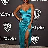 Aja Naomi King at the 2019 Golden Globes Afterparty