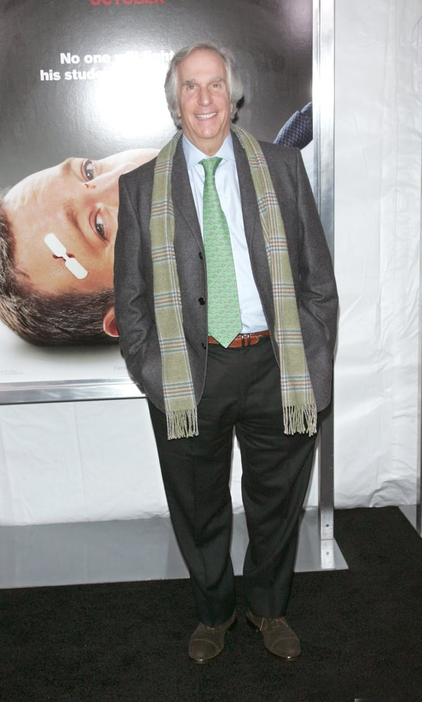 Henry Winkler wore a bright green tie to the premiere in NYC.