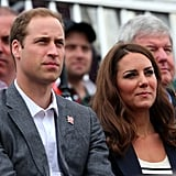 Prince William and Kate Middleton Watch Zara Get Silver