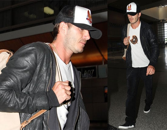 Pictures of David Beckham Leaving LA For the World Cup