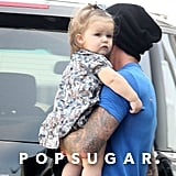 David and Harper Beckham went out for lunch.
