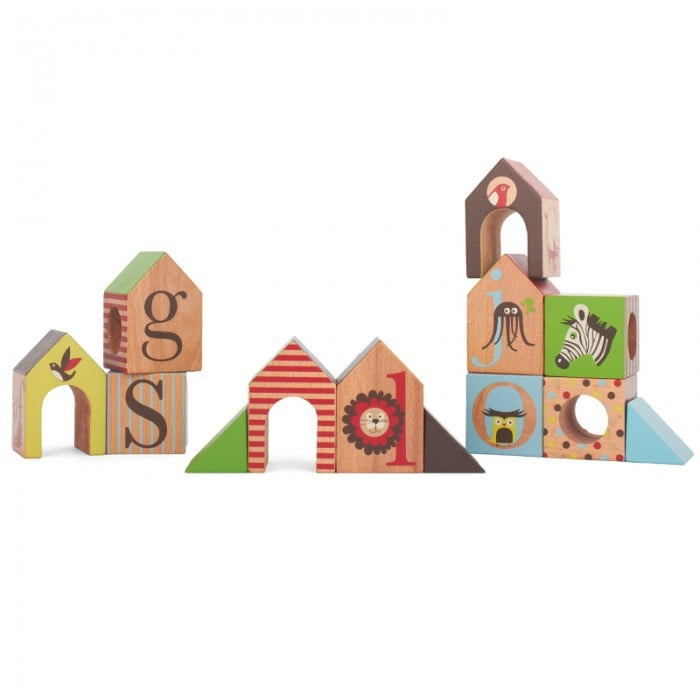 Skip-Hop Alphabet Zoo ABC House Blocks