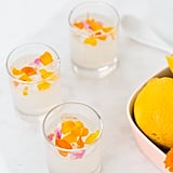 Edible Flower Lemon Jello Shots