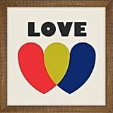 """Love"" Decorative Wall Art"