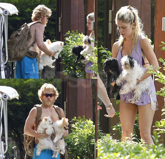Pictures of Heidi Montag and Spencer Pratt Exchanging Dogs in Costa Rica