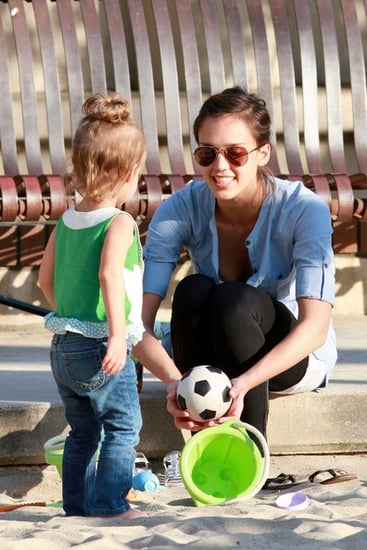 Jessica Alba at the Park with Honor