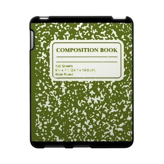 The hard plastic Speck Composition Book iPad Case ($53) is a great option: it's lightweight, it's covered with an easy-to-grip fabric, and it comes in a variety of colors.