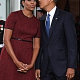 Michelle Obama Red Dress at Inauguration 2017