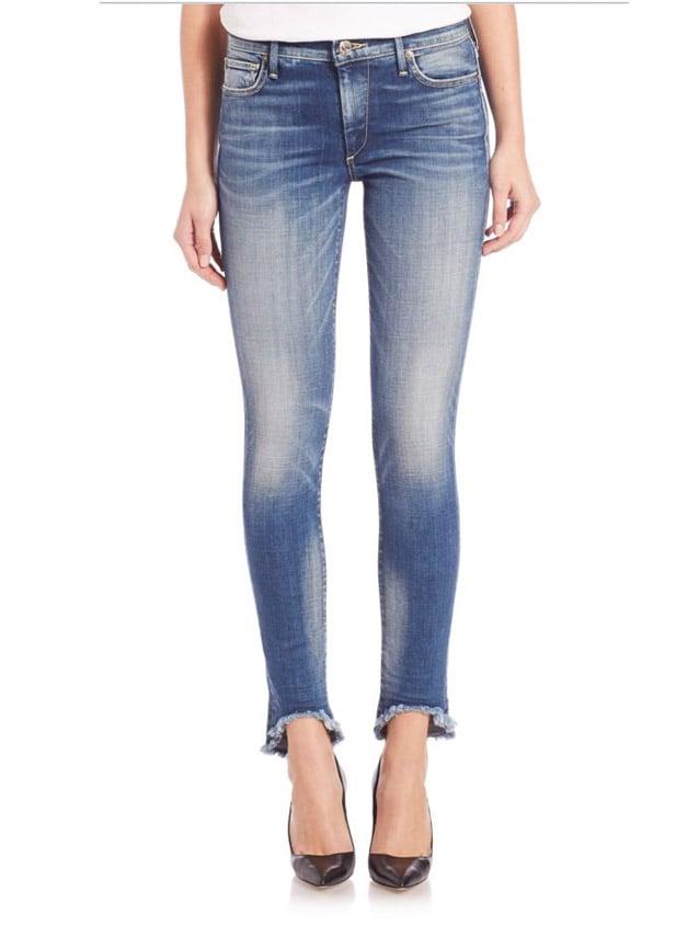 True Religion 'Halle' Raw-Hem Super Skinny Jeans ($219)