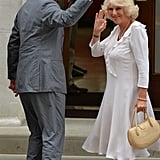 Prince Charles and Camilla, Duchess of Cornwall, arrived at St. Mary's hospital.