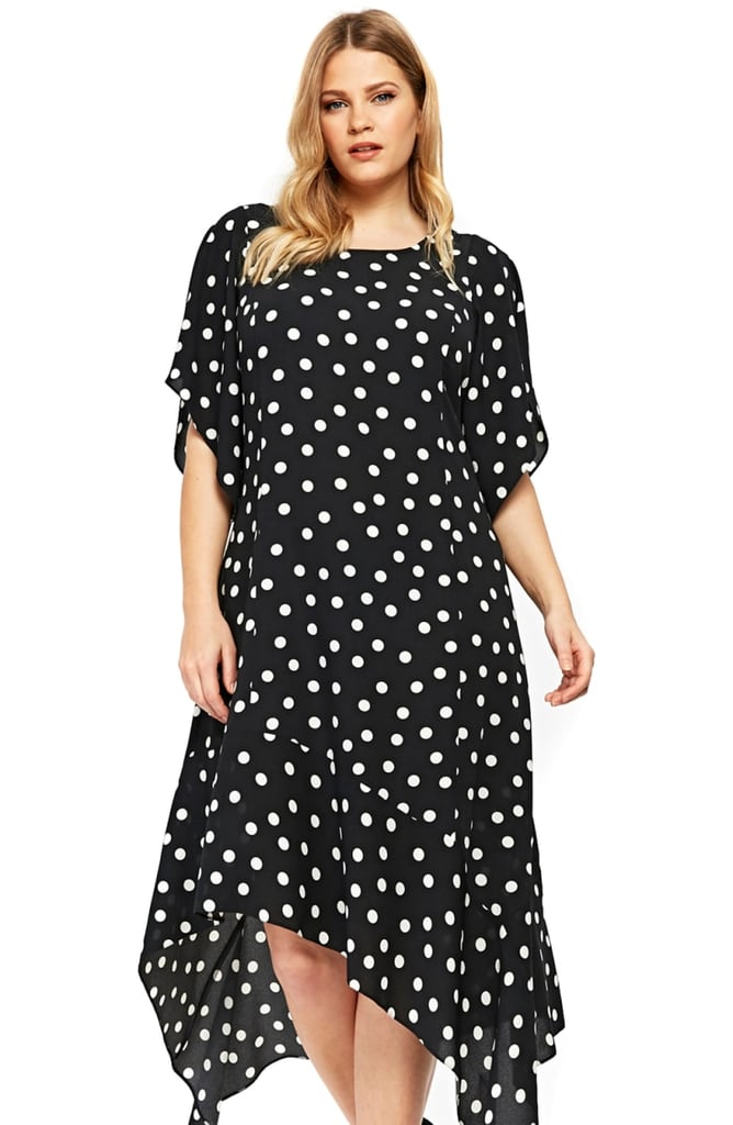 Evans Dot Handkerchief Hem Dress   Best Plus-Size Dresses For Fall ...