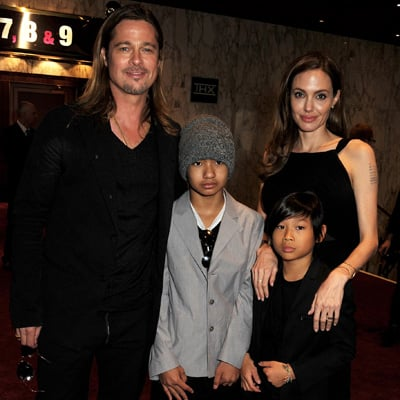 Brad Pitt and Angelina Jolie at World War Z London Premiere