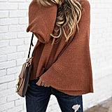 Hzsonne Bell-Sleeve Sweater