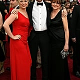 "Ryan Gosling, nominated for his role in ""Half Nelson"", attended the 2007 Oscars with sister Mandi and mother Donna."