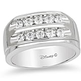 Enchanted Disney Men's Diamond Two Row Wedding Band