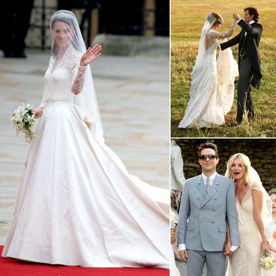 12 of the Best Celebrity Designer Wedding Dresses