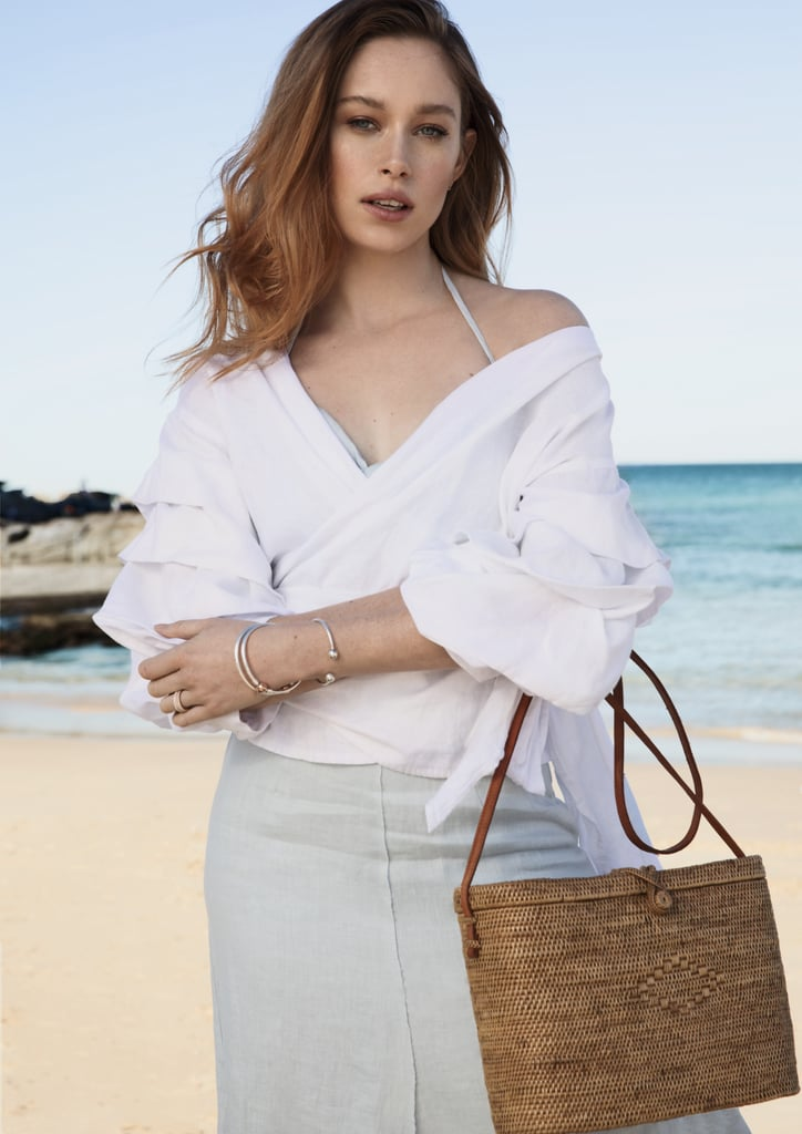Soft, flowy linen will take you from the first rays of spring right through to the hottest summer days — it's just so versatile. Keep the look fresh by adding a little silver into your jewellery mix, too.    Skirt and bralette, Hansen & Gretel. Top, Nice Martin. Bag, Sunday Living. Bangle, bracelets and rings, PANDORA Jewelry.