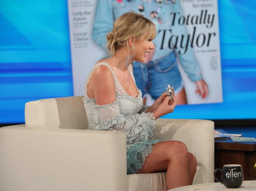 Taylor Swift Blue Jonathan Simkhai Dress on Ellen
