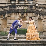 Lydia and Patrick's Beauty and the Beast-Themed Engagement Shoot