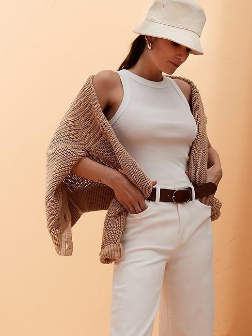 Organic Cotton Cardigan Sweater
