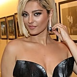 Bebe Rexha With a Blond, Blunt Bob Haircut